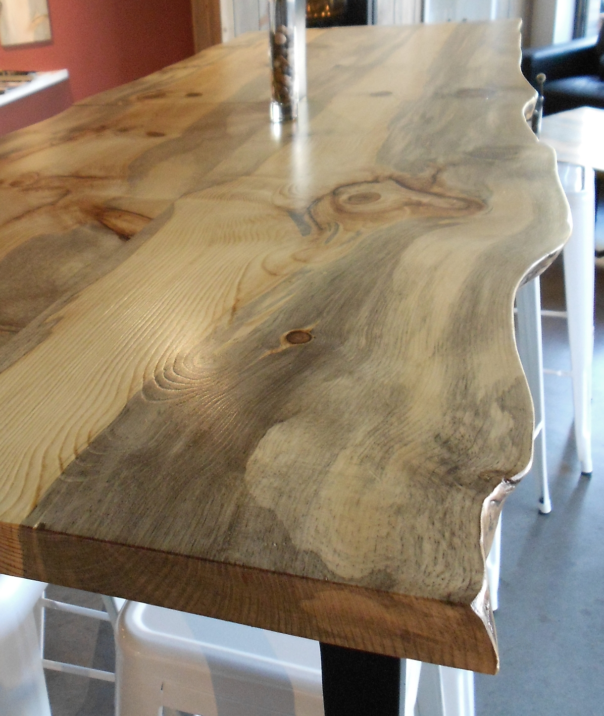 Windfall lumber creating beauty from reclaimed wood for Natural edge wood countertops